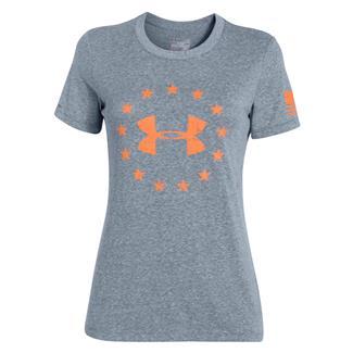 Under Armour HeatGear Freedom T-Shirt Mechanic Blue / Cyber Orange
