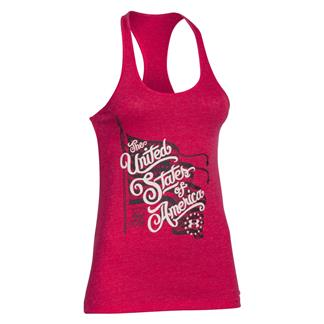 Under Armour HeatGear Freedom Waving Flag Tank Fury / Ivory