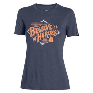 Under Armour HeatGear WWP Believe T-Shirt Mechanic Blue / Cyber Orange