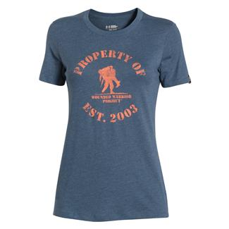 Under Armour HeatGear Property of WWP T-Shirt Mechanic Blue / Cyber Orange