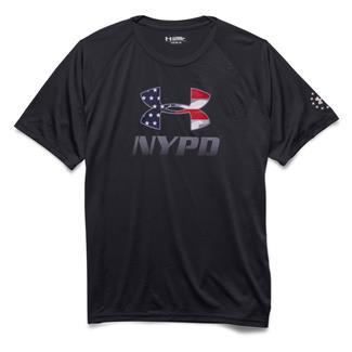 Under Armour HeatGear NYPD Training T-Shirt Black / White