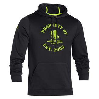Under Armour ColdGear Property of WWP Hoodie Black / Velocity