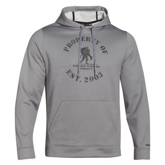 Under Armour ColdGear Property of WWP Hoodie True Gray Heather / Black