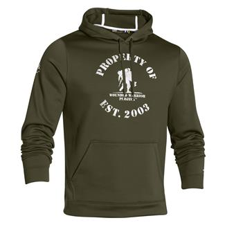 Under Armour ColdGear Property of WWP Hoodie Greenhead / White