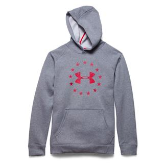 Under Armour ColdGear Freedom Hoodie True Gray Heather / Red