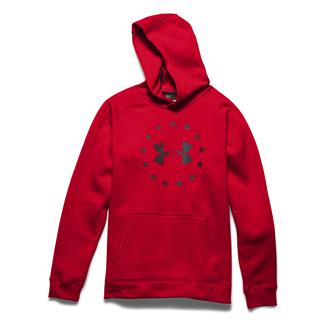 Under Armour ColdGear Freedom Hoodie Red / Black