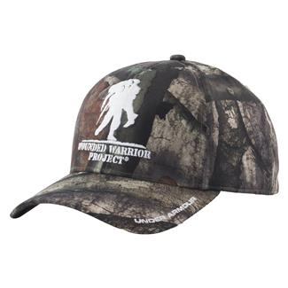 Under Armour WWP Camo Snapback Hat Mossy Oak Treestand / White
