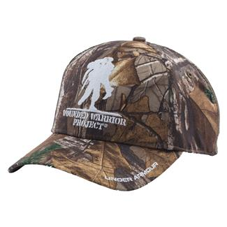 Under Armour WWP Camo Snapback Hat Realtree APX / White