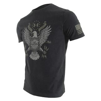 Under Armour HeatGear Support the Troops T-Shirt Black / Stoneleigh Taupe