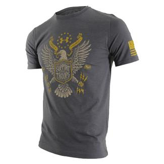 Under Armour HeatGear Support the Troops T-Shirt Carbon Heather / Ochre