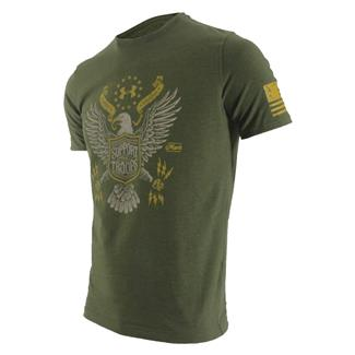 Under Armour HeatGear Support the Troops T-Shirt Greenhead / Ochre