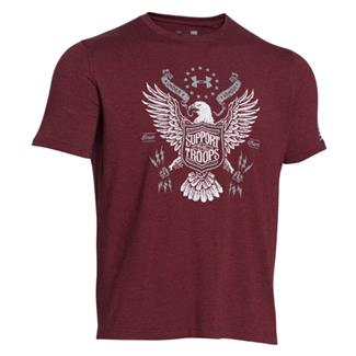 Under Armour HeatGear Support the Troops T-Shirt Deep Red / Steel