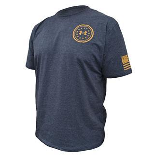 Under Armour HeatGear De Opresso Liber T-Shirt Black / Moccasin