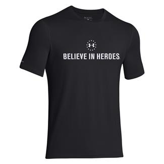Under Armour HeatGear Believe in Heroes T-Shirt Black / White