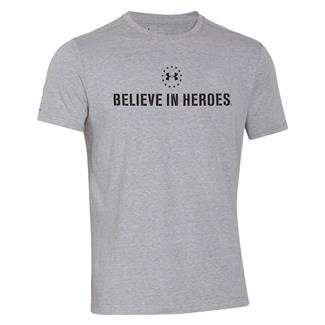 Under Armour HeatGear Believe in Heroes T-Shirt True Gray Heather / Black
