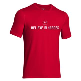 Under Armour HeatGear Believe in Heroes T-Shirt Big Apple Red / White