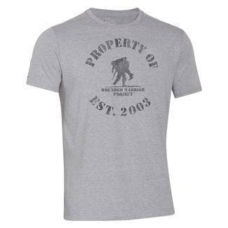 Under Armour HeatGear Property of WWP T-Shirt True Gray Heather / Black