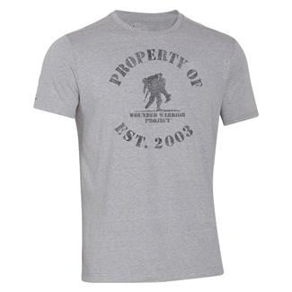 Under Armour HeatGear Property of WWP T-Shirt True Gray Heather / Black
