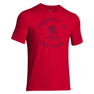 Under Armour HeatGear Property of WWP T-Shirt Big Apple Red / Academy