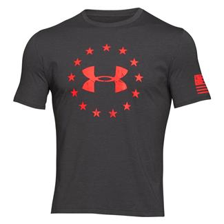 Under Armour HeatGear Freedom T-Shirt Carbon Heather / Bolt Orange