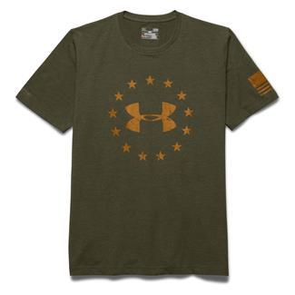 Under Armour HeatGear Freedom T-Shirt Greenhead / Moccasin