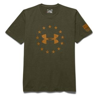 Under Armour HeatGear Freedom T-Shirt Greenhead / Moccasin