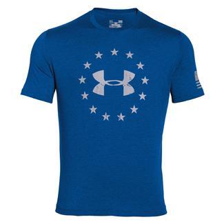 Under Armour HeatGear Freedom T-Shirt Superior Blue / White