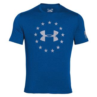 Under Armour HeatGear Freedom T-Shirt Superior Blue / White