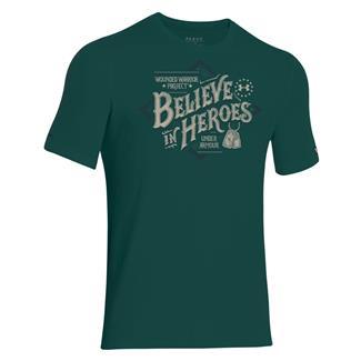 Under Armour HeatGear WWP Believe T-Shirt Pine / Desert Sand