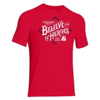 Under Armour HeatGear WWP Believe T-Shirt Big Apple Red / White