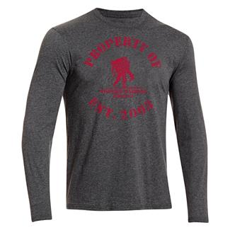 Under Armour HeatGear Long Sleeve Property of WWP T-Shirt Carbon Heather / Big Apple Red