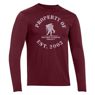 Under Armour HeatGear Long Sleeve Property of WWP T-Shirt Deep Red / White