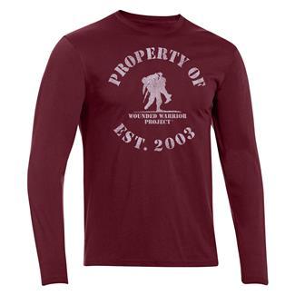 Under Armour HeatGear Long Sleeve Property of WWP T-Shirt Deep Red / White