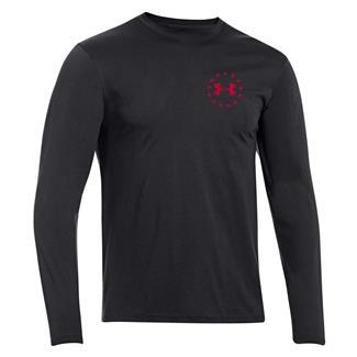 Under Armour HeatGear Long Sleeve WWP Freedom Flag T-Shirt Black / Big Apple Red