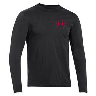 Under Armour HeatGear Long Sleeve WWP Freedom Flag T-Shirt Black / Big Apple Red