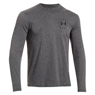 Under Armour HeatGear Long Sleeve WWP Freedom Flag T-Shirt True Heather Gray / Black