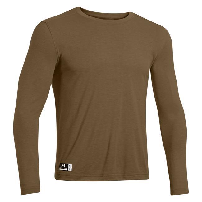 Men 39 s under armour tactical heatgear fr long sleeve t for Under armour brown t shirt