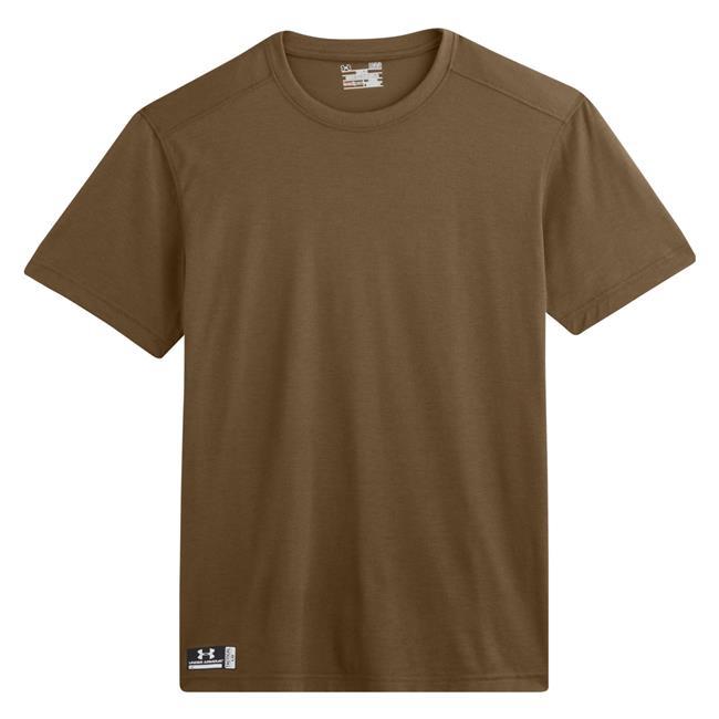 Men 39 s under armour tactical heatgear fr t shirt for Under armour brown t shirt