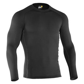 Under Armour ColdGear Base 4.0 Crew Shirt Black / Battleship / School Bus