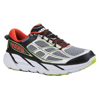 Hoka One One Clifton 2 Gray / Orange Flash