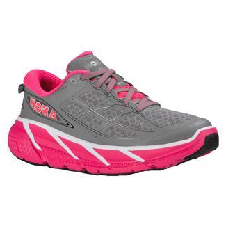 Hoka One One Clifton 2 Gray / Neon Pink