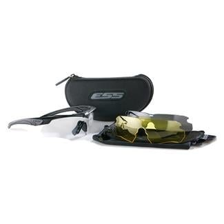 ESS Eye Pro Crossbow Clear / Smoke Gray / Hi-Def Yellow 3 Lenses Black