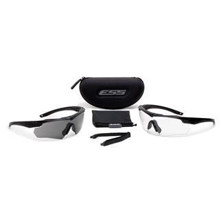 ESS Eye Pro Crossbow Black 2 Lenses Clear / Smoke Gray
