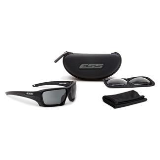 ESS Eye Pro Rollbar Black / Silver Logo 2 Lenses Clear / Smoke Gray