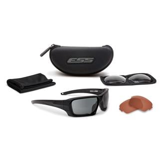 ESS Eye Pro Rollbar 3 Lenses Black / Subdued Logo Clear / Smoke Gray / Mirrored Copper