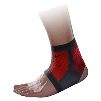 NIKE Pro Combat Hyperstrong Ankle Sleeve Black / University Red