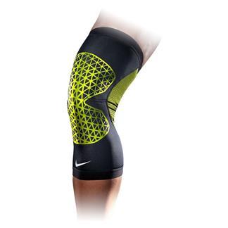 NIKE Pro Combat Hyperstrong Knee Sleeve Black / Volt