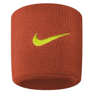 NIKE Swoosh Wristband (2 pack) Team Orange / Volt