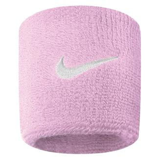 NIKE Swoosh Wristband (2 pack) Perfect Pink / White