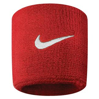 NIKE Swoosh Wristband (2 pack) Varsity Red / White
